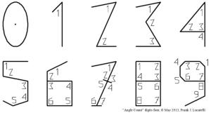 Angle Count Font with marked angles v4